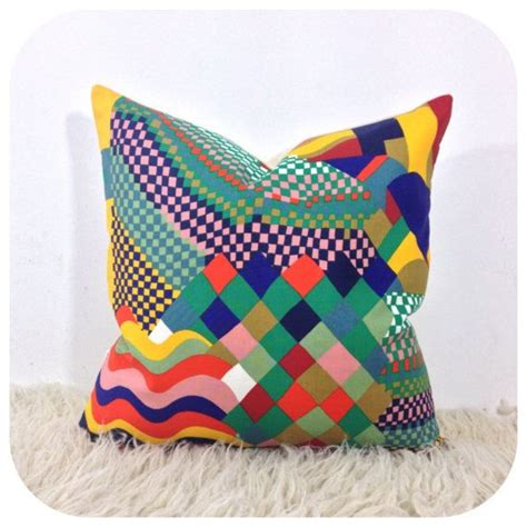 Vintage Pillow Covers by Cushion Cover 1970s Vintage Liberty Bauhaus Fabric Retro