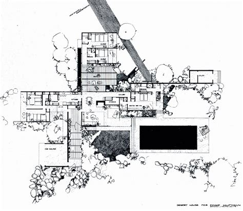 kaufmann house floor plan richard neutra kaufmann house floor plan palm springs richard neutra house and