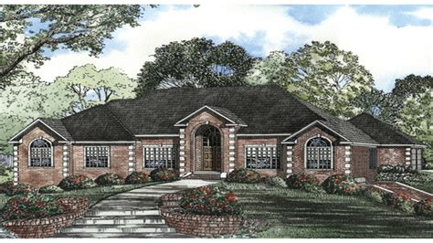 brick ranch style house plans country style brick homes