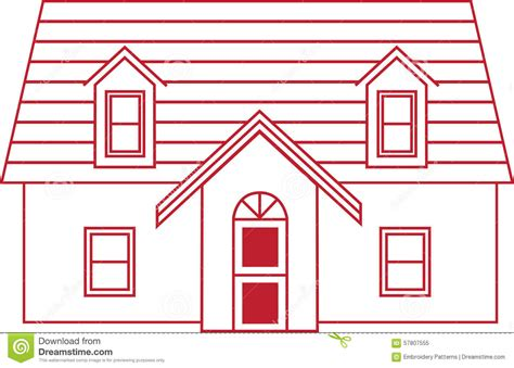 house outline stock illustration image 57807555