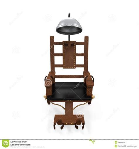 elektrischer stuhl überlebt elektrischer stuhl lokalisiert stock abbildung bild