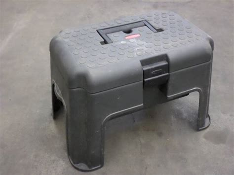 Step Stool Storage Box by Rubbermaid Step Stool With Storage Loretto Equipment