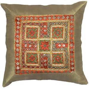 Contemporary Throw Pillows For Sofa Silk Beige Accent Sofa Pillows Cushions