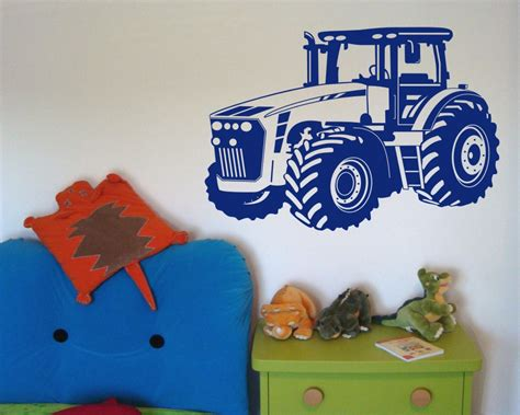 kinderzimmer tapete trecker wandtattoo trecker traktor kinderzimmer deko xxxlaufkleber
