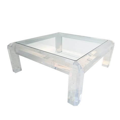 Acrylic Coffee Table Plexiglass Coffee Table Lucite Waterfall Coffee Table At 1stdibs Lucite Coffee Table Images