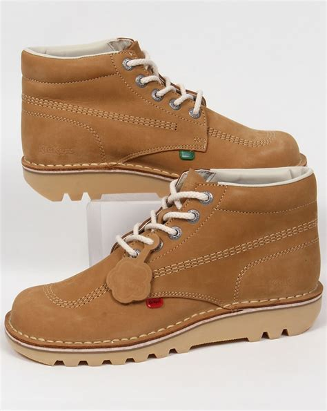 kickers shoes kickers kick hi boots in nubuck mens