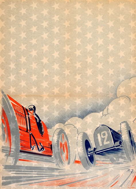 deco racing cars car race deco 1910s early original antique classic car racing poster listed on