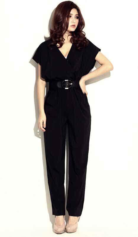 Jumpsuit Import Murah Xy61320 jumpsuit panjang hitam import terbaru 2016 model terbaru jual murah import kerja