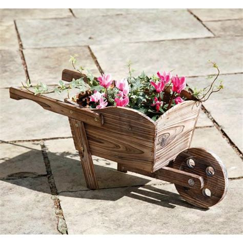 Landscape Timber Dump Truck Wooden Wheel Barrow Ornamental Planter Things I Want To