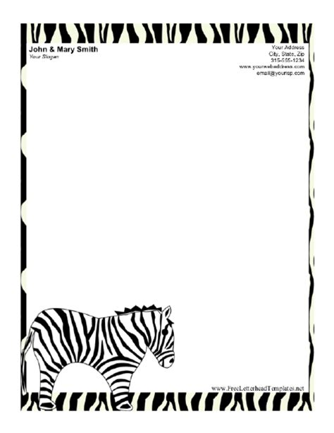 zebra printer templates for word zebra border template