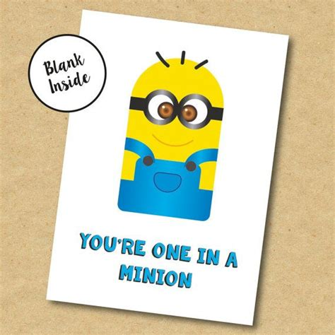 minion greeting card template minion birthday card for boyfriend