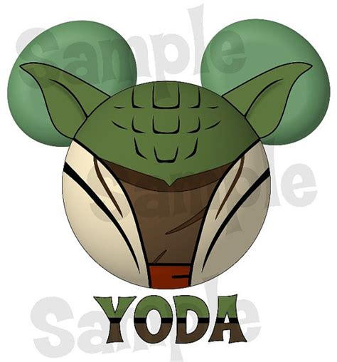 yoda star wars inspired character mickey head by