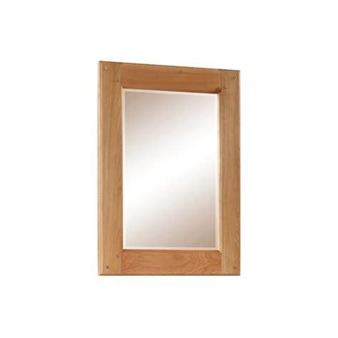 Rectangular Bedroom Mirrors Heaton Wooden Bedroom Wall Mirror Rectangular In Solid Oak