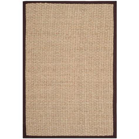 beige area rugs home depot safavieh fiber beige brown 2 ft 6 in x 4 ft