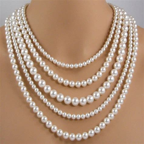 25 best ideas about multi strand pearl necklace on