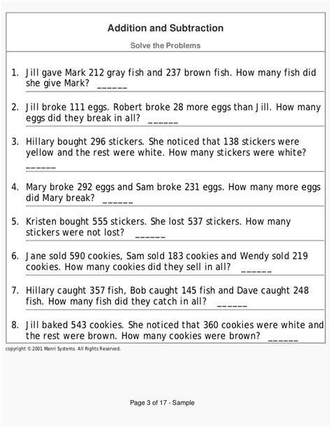 Grade 3 Math Problem Solving Worksheets by Time Problem Solving Grade 3 Word Problems Worksheets