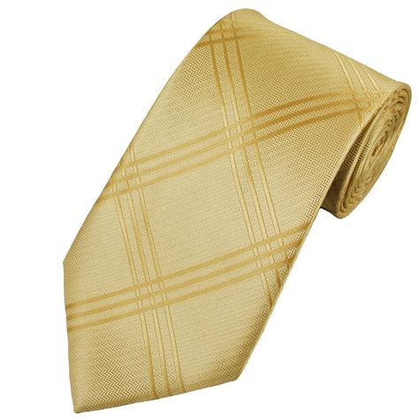 pale gold checked s tie from ties planet uk