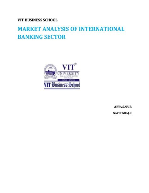 International Banking Mba by Market Analysis For Banking Sector