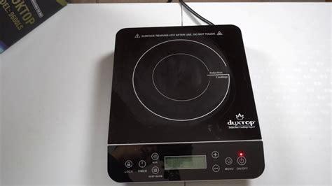 duxtop induction cooktop secura duxtop induction cooktop 9600ls unboxing