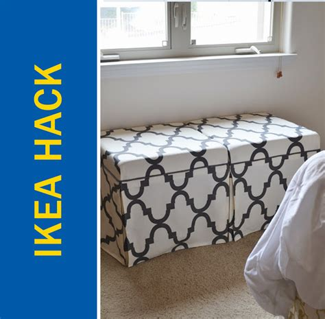 ikea hack storage ottoman ikea hack convert a cheap side table into a chic ottoman