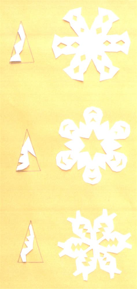 How To Make Snow Flakes Out Of Paper - paper snowflakes free
