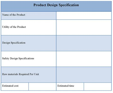 product design requirements template best photos of web service specification template person