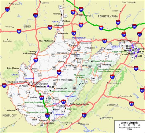 road map of virginia usa west virginia road map