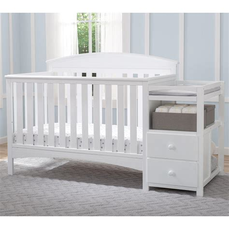 White Cribs With Changing Table Crib With Attached Changing Table White Recomy Tables Mounting Crib With Attached Changing Table