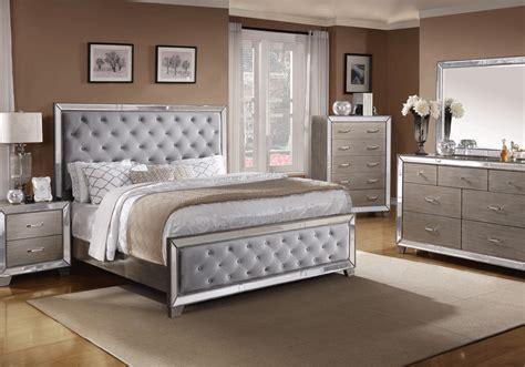 cosette silver queen bedroom set local overstock warehouse  furniture  mattress