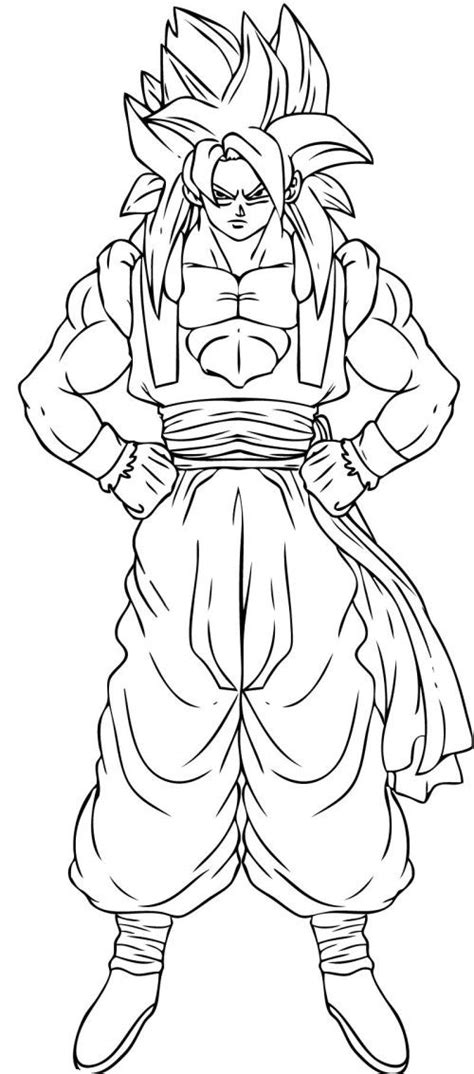 dragon ball z coloring pages online mannen pinterest