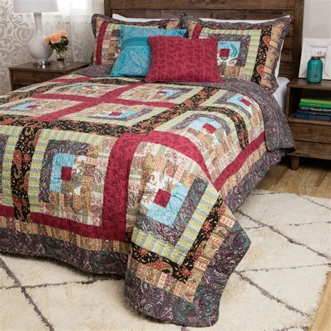 Oversized Quilts by Greenland Home Fashions Colorado Cabin Cotton Oversized Bonus 5 Quilt Set 17347864