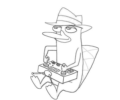 perry the platypus coloring pages perry the platypus