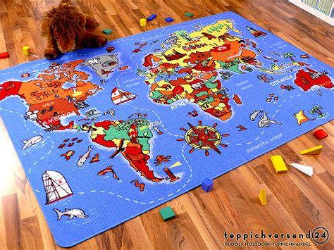 kinderzimmer teppich weltkarte lernen und spielen kinderteppich weltkarte teppiche kinder