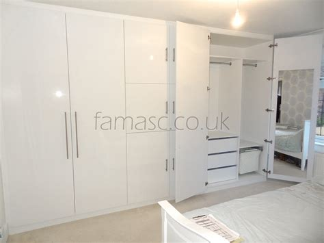 White Fitted Wardrobe Doors fitted wardrobe with frameless sliding doors