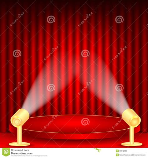curtain scene theatrical background stock vector image of histrionics