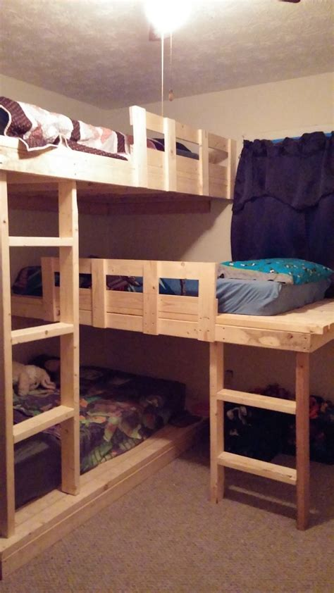 ana white triple bunk beds diy projects