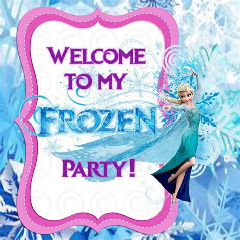 frozen printable welcome 17 images about frozen party ideas on pinterest frozen