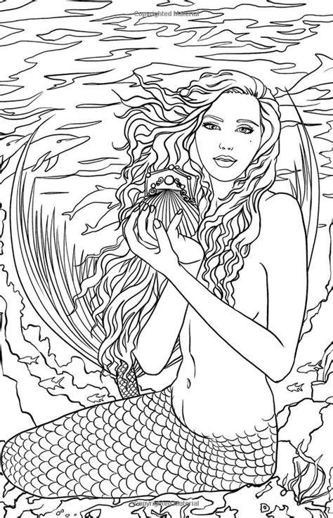 mermaids grayscale coloring book coloring books for adults books artist selina fenech myth mythical mystical legend