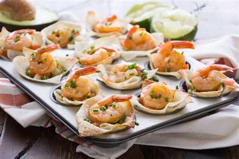 light appetizers for parties light tex mex shrimp wonton cups recipe video julie s