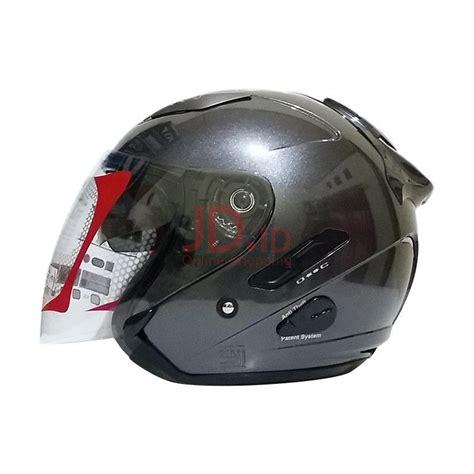 Helm Kyt Nama jual kyt galaxy helm half gun metal metalik xl almerhelmet