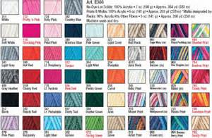 yarn color chart soft yarn color chart pictures to pin on