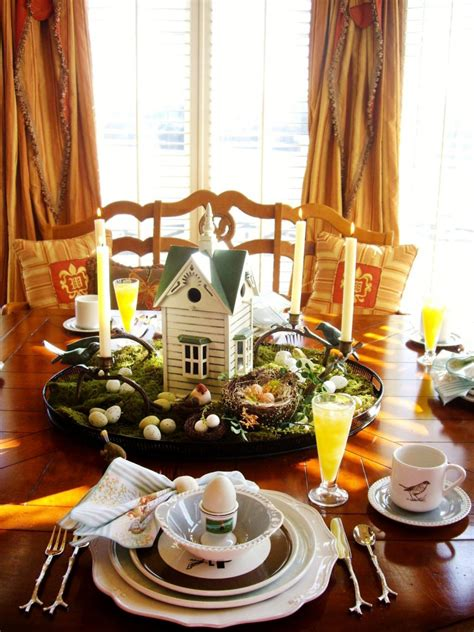 bird themed home decor 15 easter table setting ideas to try entertaining ideas