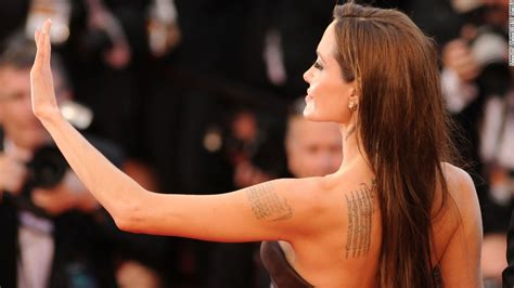 angelina jolie billy bob tattoo removal and neck tattoos not widely accepted cnn
