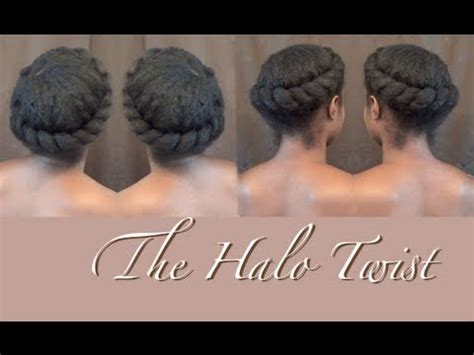 halo crowngoddess braids on natural hair black girl with natural hair twist the halo crown braid nik scott youtube