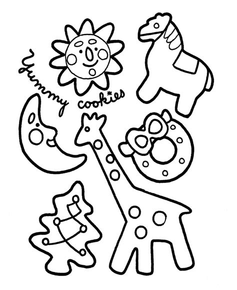 Christmas Cookie Coloring Pages Cookies Coloring Pages