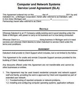 sle service agreement template 6 free documents