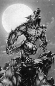 Framed Print - Werewolf Howling at the Full Moon (Gothic