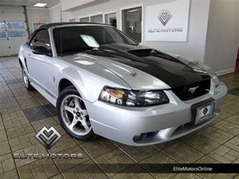Mustang Auto Repair Cicero by Purchase Used 01 Ford Mustang Svt Cobra Convertible Carbon