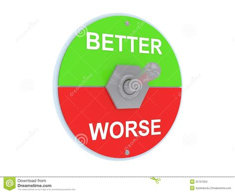 or better better or worse switch stock images image 25721224