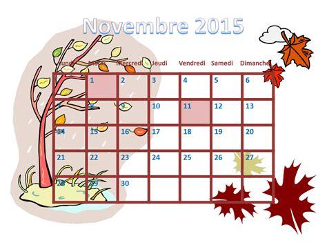 Calendrier à Imprimer Novembre 2015 Calendrier Novembre 2015 Images